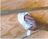 Applying Energy Seal on wood